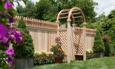 Eastern Cedar Arbors are available as arbor arch only or complete with side panels (diagonal OR square lattice) in widths of 36, 42, 48, 60, 72 and 96 inches. You can also purchase a halo (half the arbor -  a single arch), just the side panels in diagonal or square lattice.