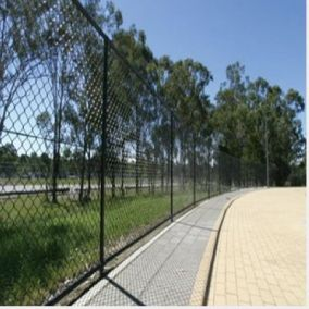 Chain link fence can be fitted with a bottom rail to assure security of pets. A mid rail is often used on tall chain link fence installations.