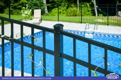 Eastern Ornament Aluminum EO54202 54 inch BOCA Code Fence is also available in Bronze. The Bronze version of this material has a unique textured finish that make dirt difficult to see!