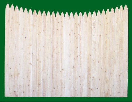 Eastern White Cedar Stockade with a scalloped top