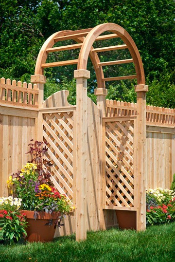 Eastern Cedar Arbors or Pergolas make a beautiful addition to any yard!