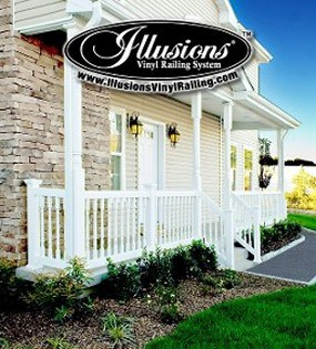Illusions vinyl railing is certified safe.