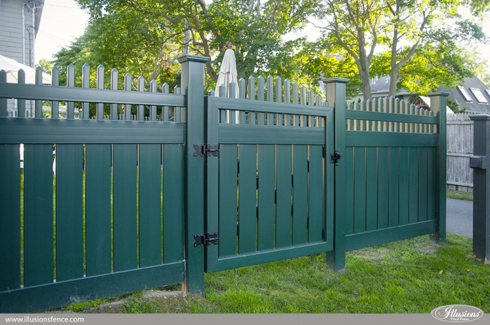Grand Illusions Color Vinyl Fence - Color spectrum and ... on Gate Color Ideas  id=70377