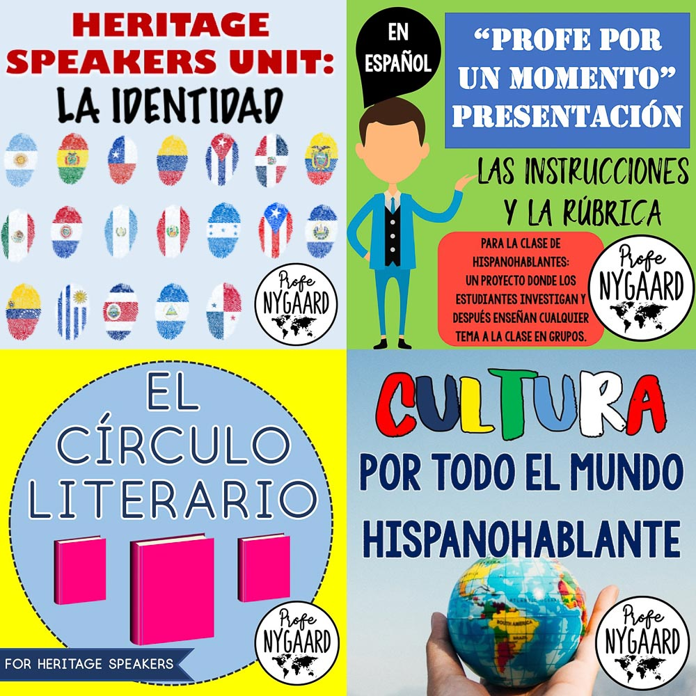 year one bundle for heritage speakers course curriculum