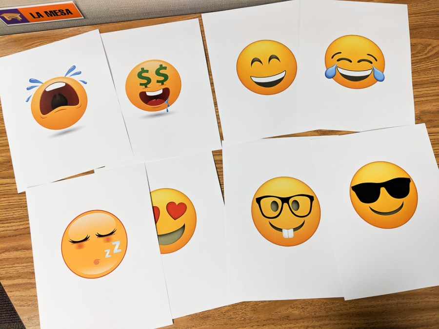 large emoji grouping cards