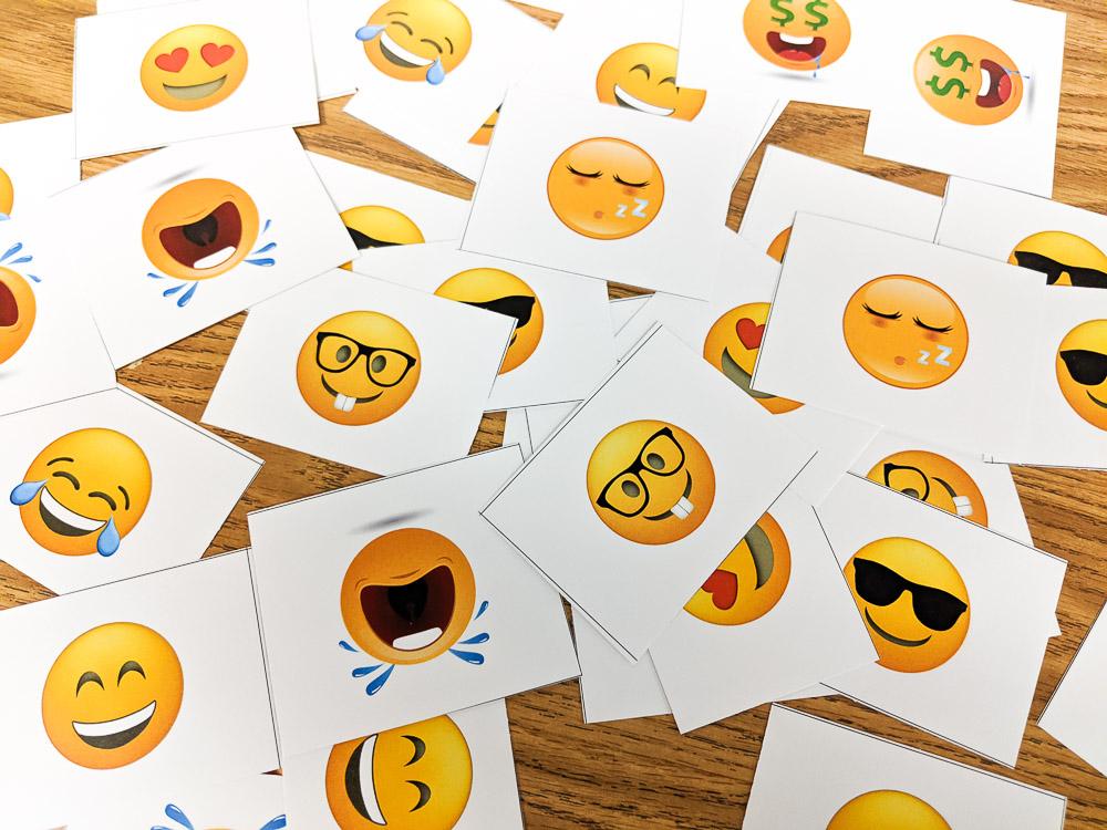 emoji grouping cards