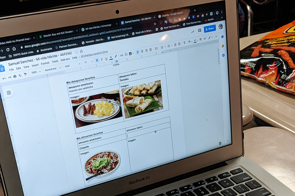 mi vida híbrida Google Doc