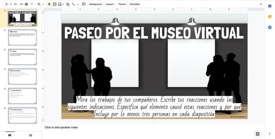 paseo por el museo virtual