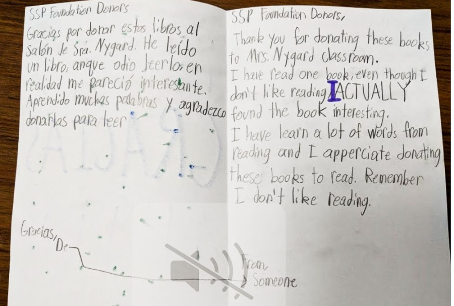 thank you letter for book donation