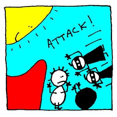 Les Ninjas attaquent.