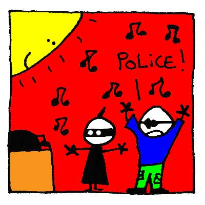 Giorgio menace d'appeler la police.