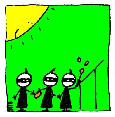 Les Ninjas au travail.