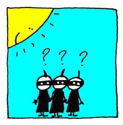 Les Ninjas s'interrogent.