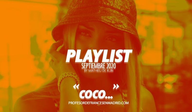 Mi lista de canciones 100% francesa de septiembre 2020