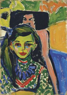 Ernst Ludwig Kirchner - Fränzi vor geschnitztem Stuhl (1910)