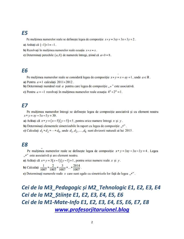 FISA DE LUCRU LEGI DE COMPOZITIE- exexrcitii date la BAC M1M2 M3-2