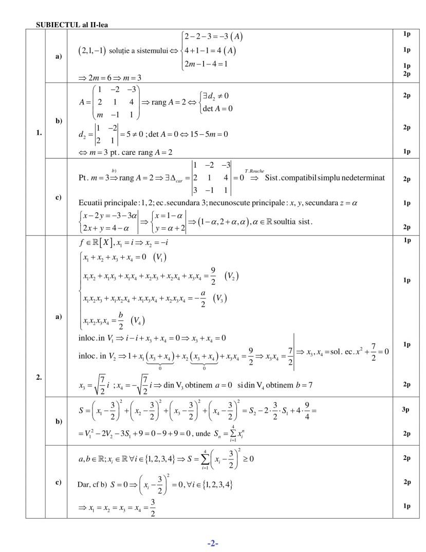 Barem Mate-Info sem II-2