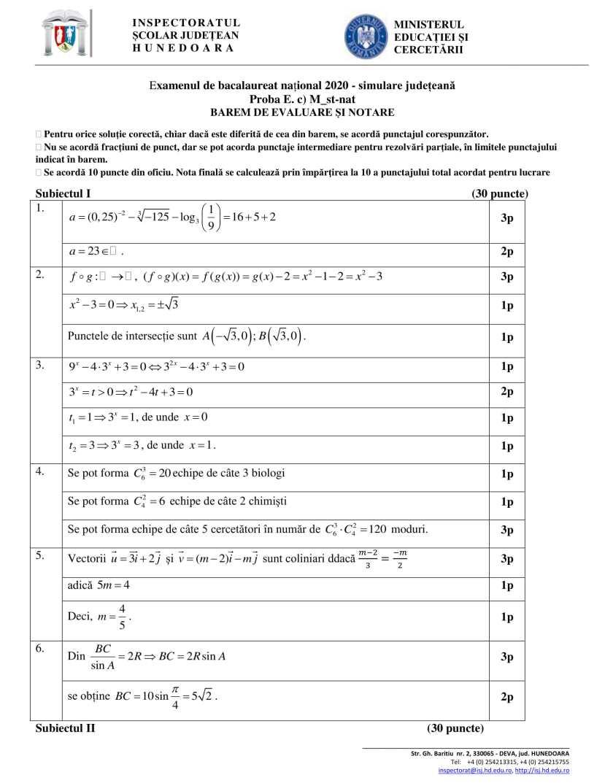BAREM-Simulare-BAC 2020-matematica-HD-st-nat-bar-1
