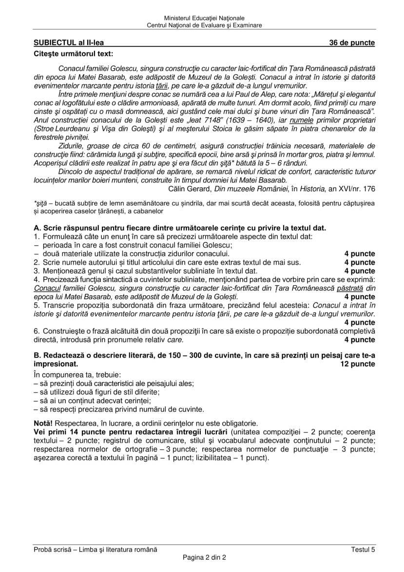 EN_VIII_Limba_romana_2020_Testul_5-2