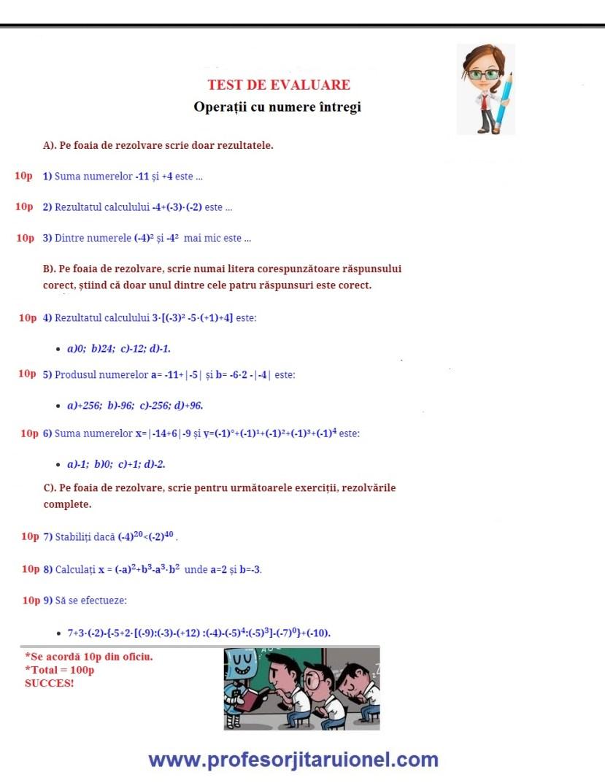 Test-de-evaluare-Operatii-cu-numere-intregi