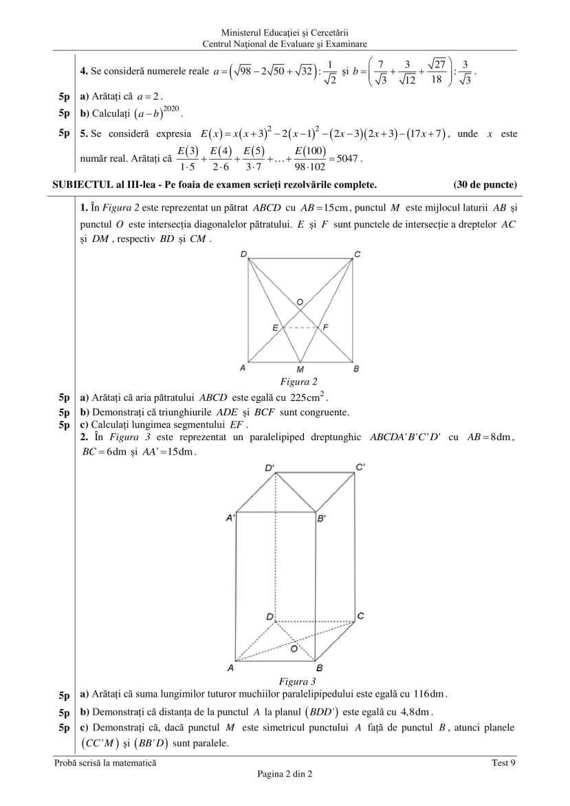 ENVIII_matematica_2020_Test_09-2