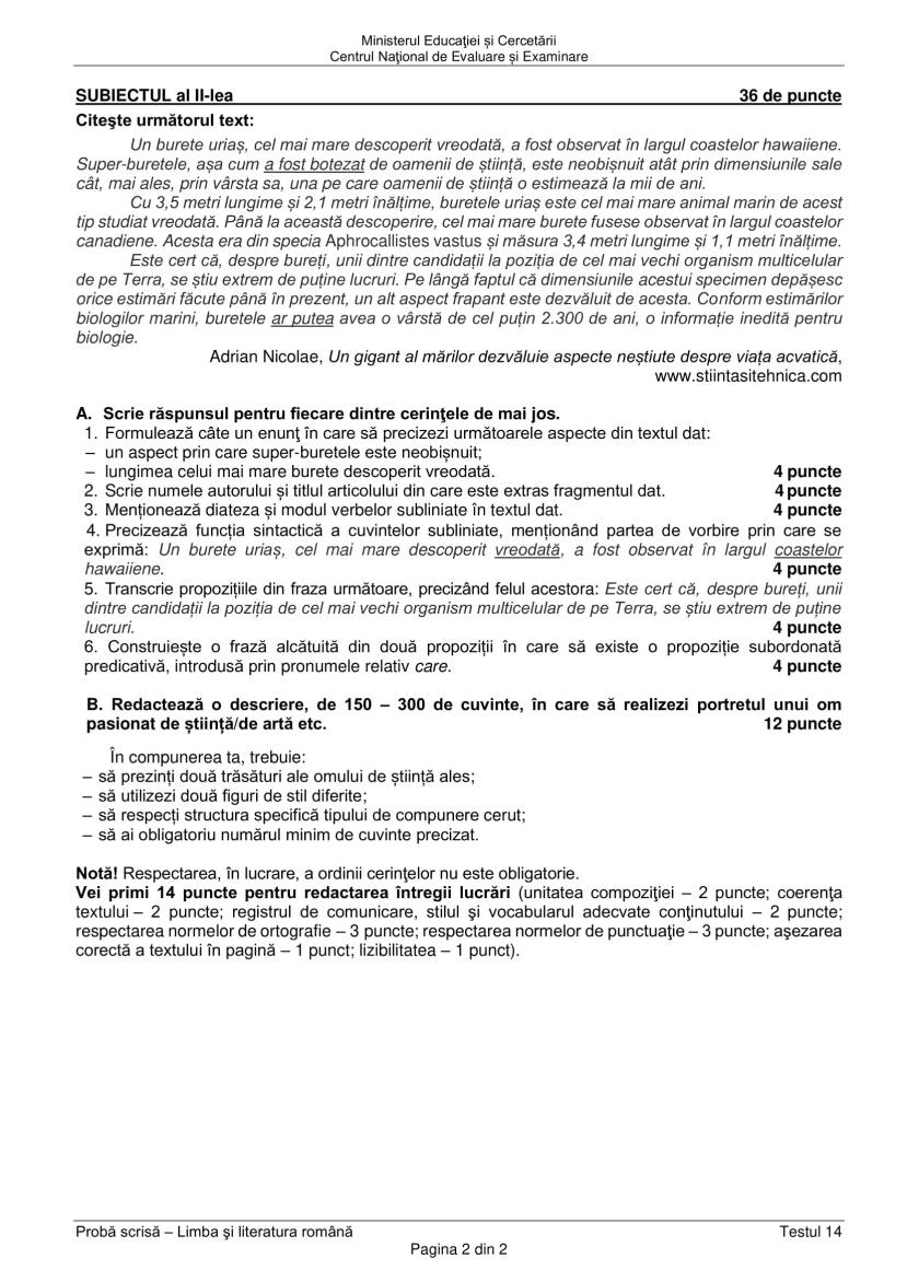 EN_VIII_Limba_romana_2020_Testul_14-2