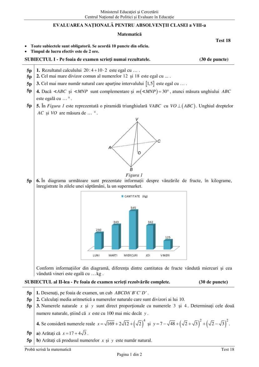 ENVIII_matematica_2020_Test_18-1