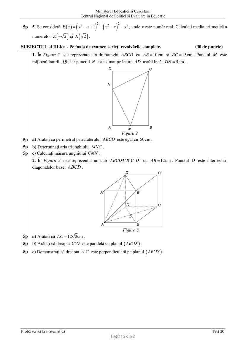ENVIII_matematica_2020_Test_20-2