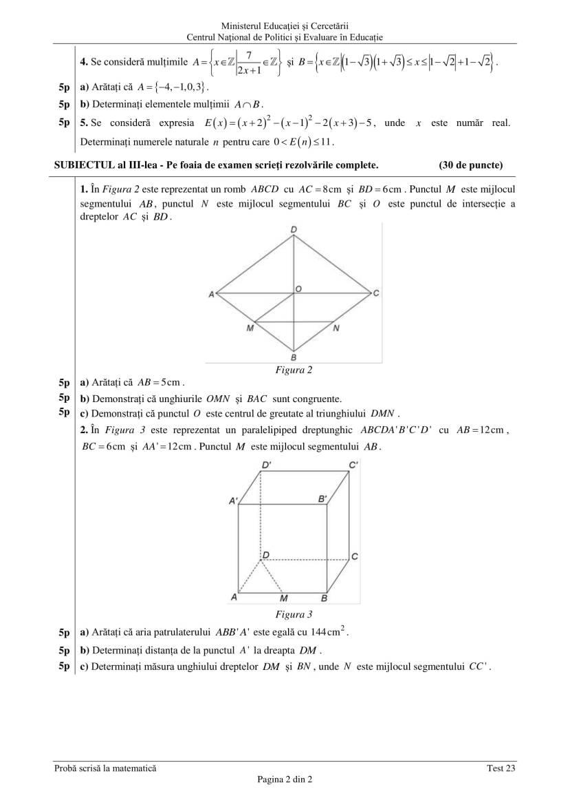 ENVIII_matematica_2020_Test_23-2
