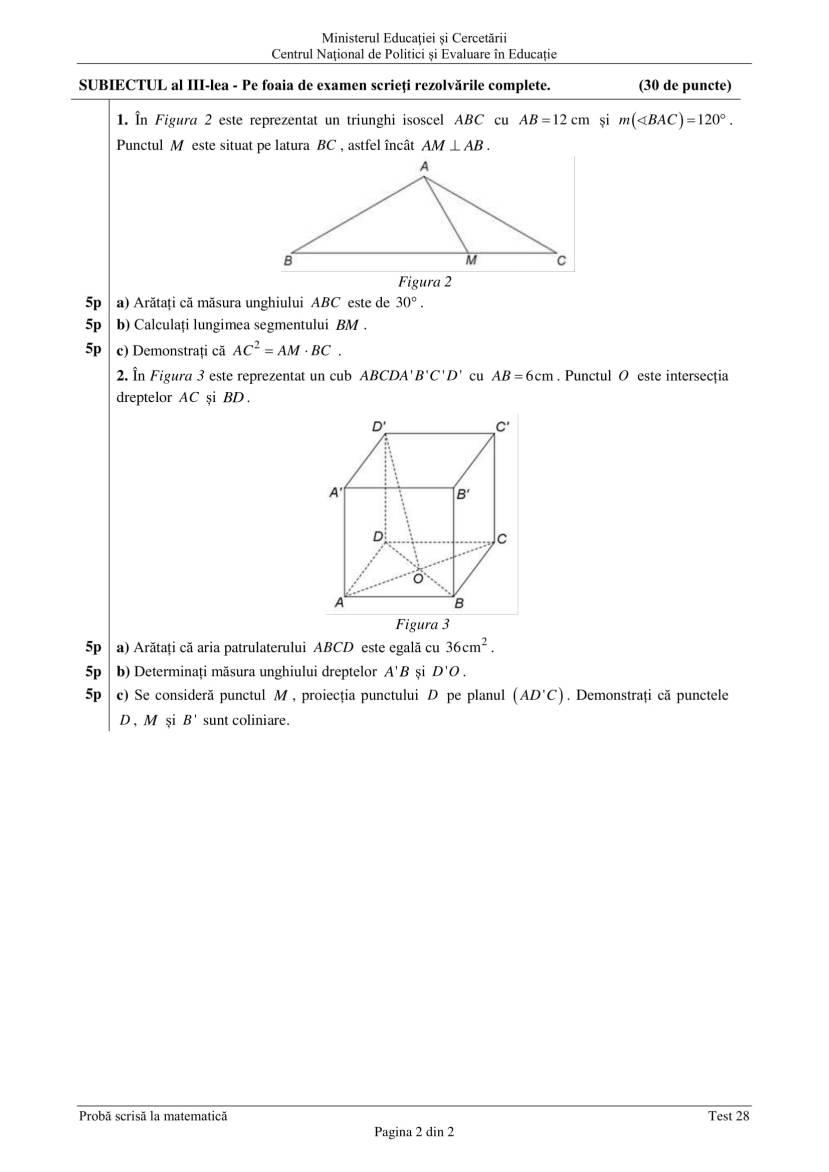 ENVIII_matematica_2020_Test_28-2