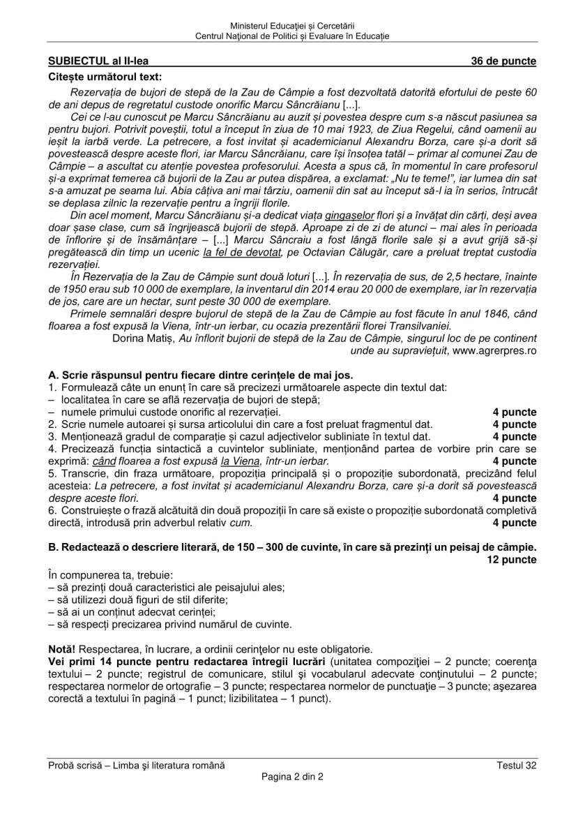 EN_VIII_Limba_romana_2020_Testul_32-2