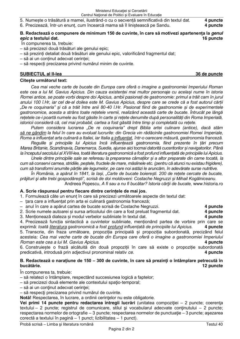 EN_VIII_Limba_romana_2020_Testul_40-2