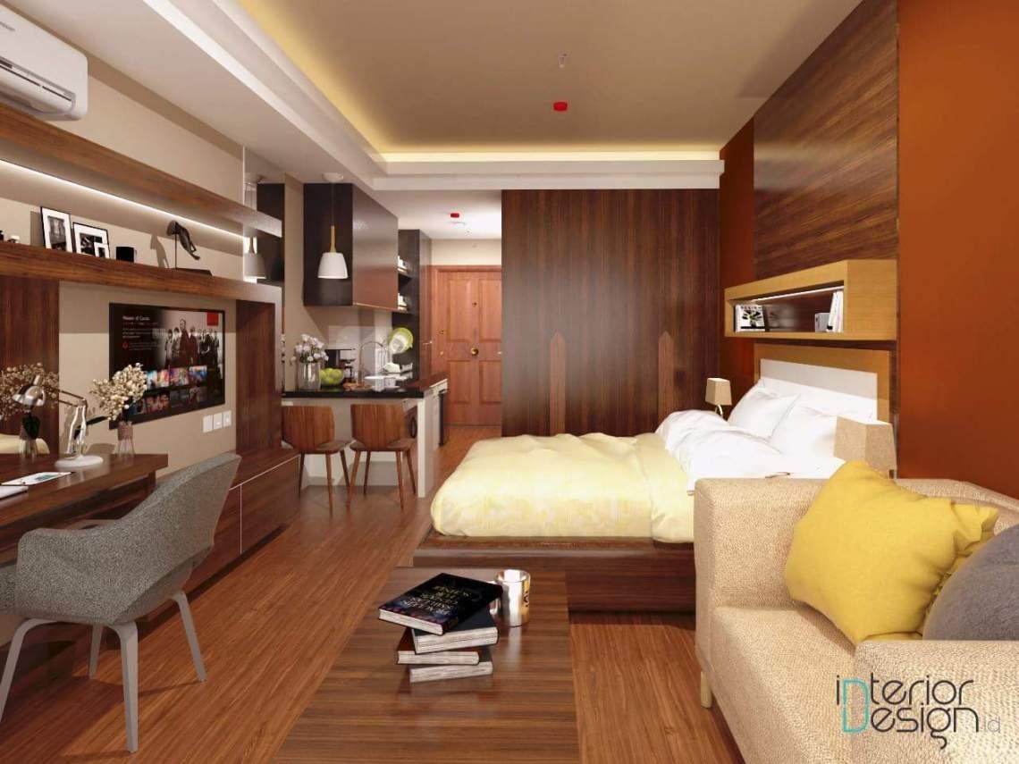 Desain Apartemen Tipe Studio Minimalis Modern Murah Bekasi
