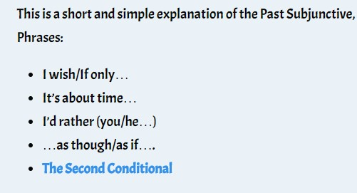 Past Subjunctive Phrases I Wishif Only Its About Time