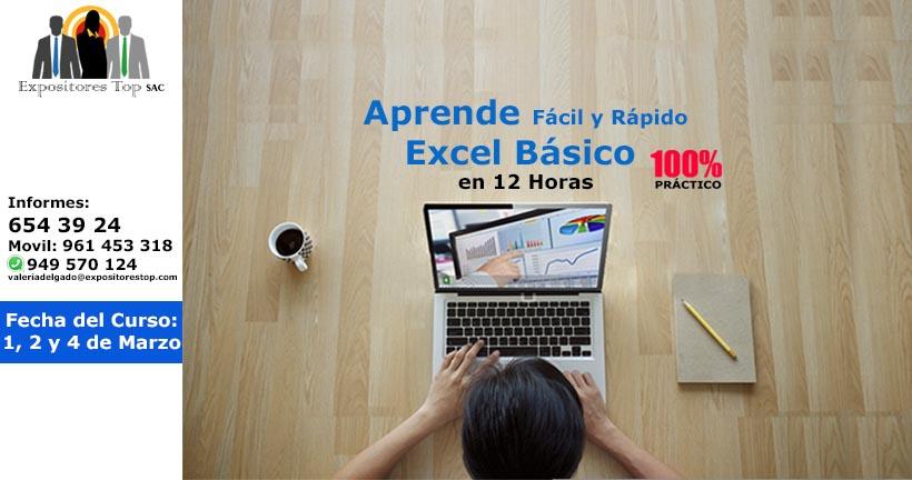 Excel Básico, Aprende Fácil y Rápido