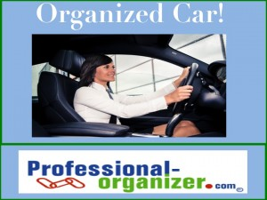 organizing your car