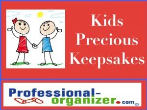 kids organizing precious kids keepsakes