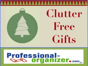 clutter free holiday gifts