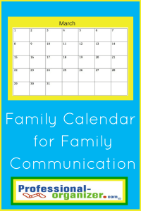 family calendar and family organizing