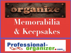 organizing keepsakes
