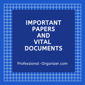 important papers and vital documents