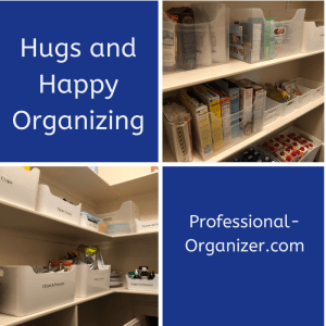 hugs and happy organizing pantry