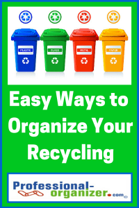 organize recycling