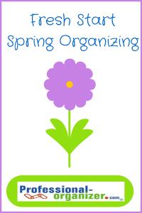 fresh start spring organizing