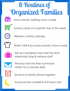 8 routines of organized families