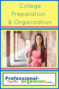 college preparation and organization