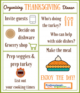 organizing thanksgiving dinner