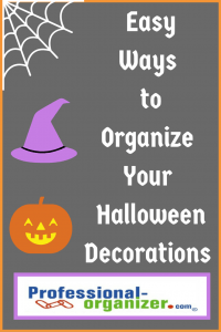 organize your halloween decorations