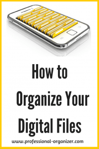 organize electronic files