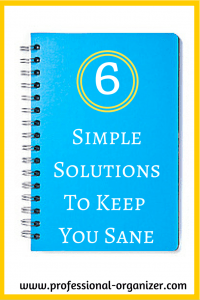 simple organizing solutions